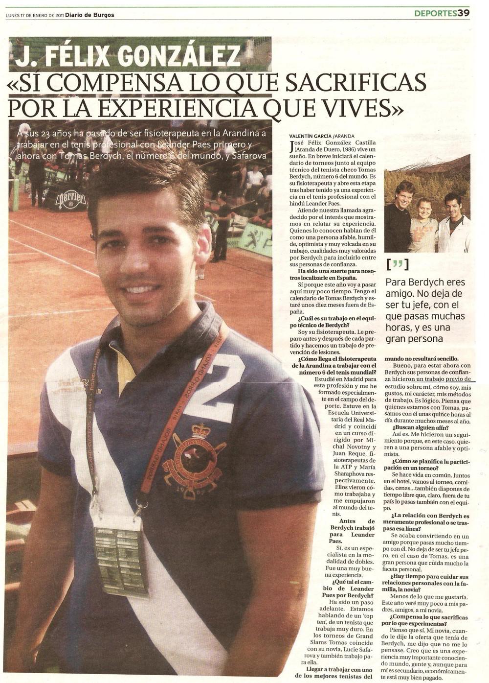 Diario de Burgos - 17 Enero 2011