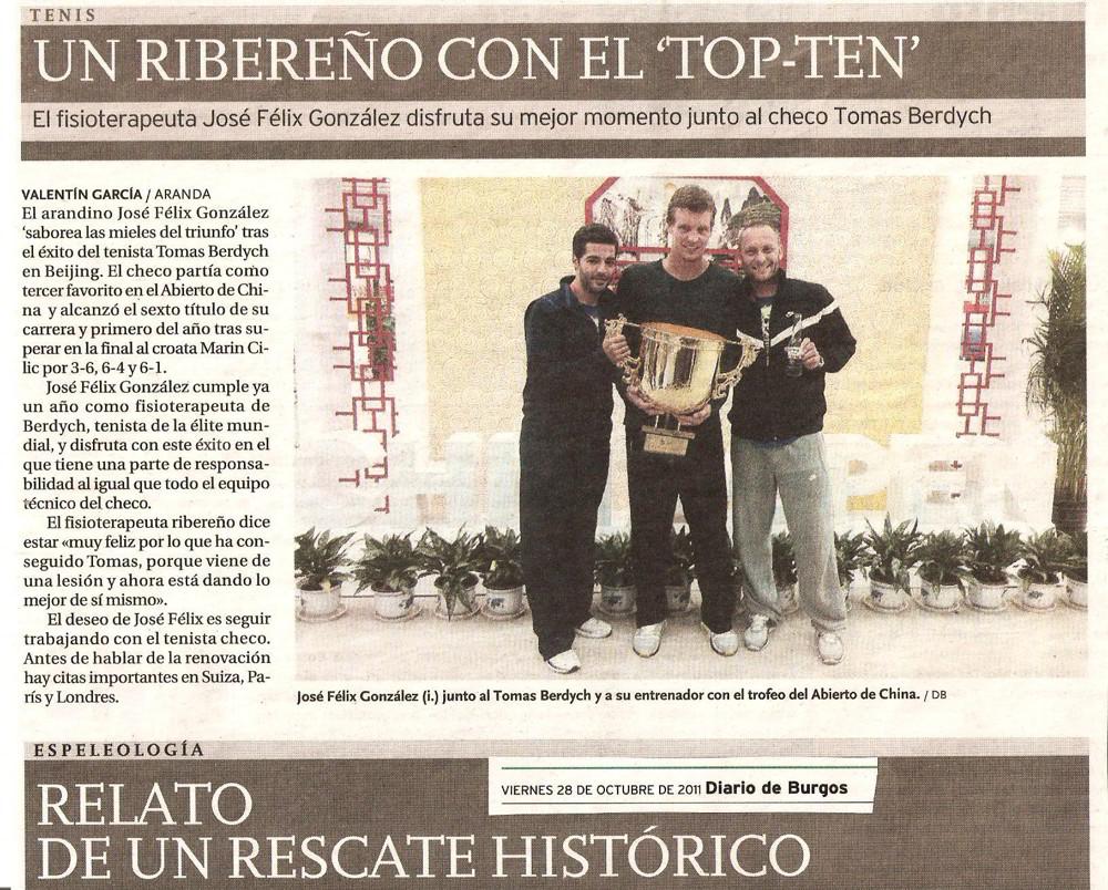 Diario de Burgos - 28 Octubre 2011